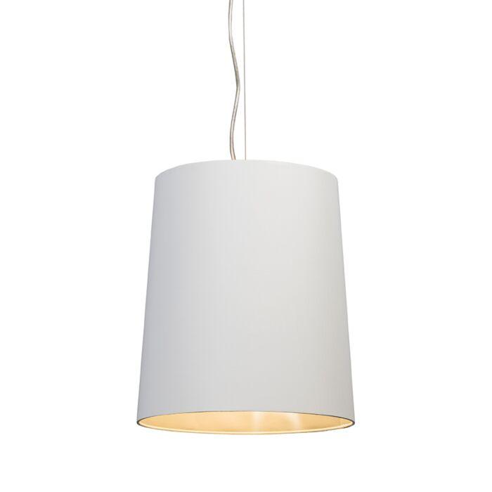 Lámpara-colgante-CAPPO-1-con-pantalla-blanca-y-plateada-por-dentro