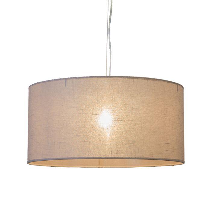 Lámpara-colgante-CAPPO-1-con-pantalla-marrón-claro