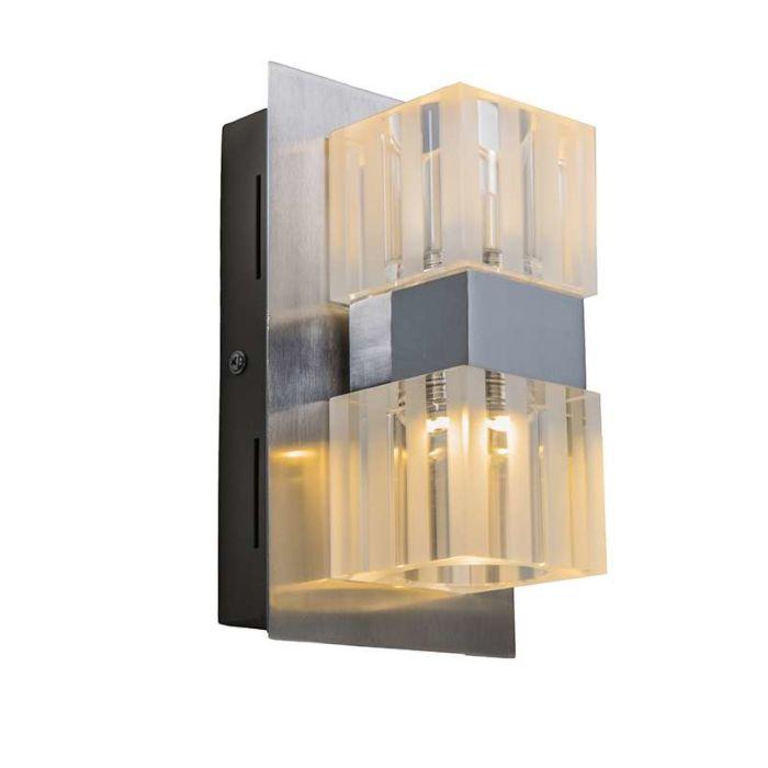 Aplique-de-pared-DICE-2-LED-cromo