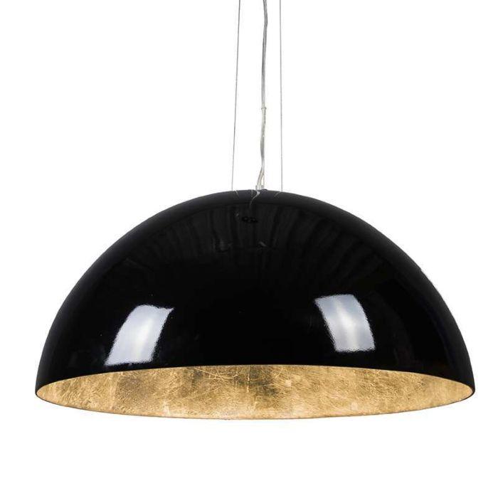 Lámpara-colgante-MAGNA-Glossy-70cm-negra-y-plata