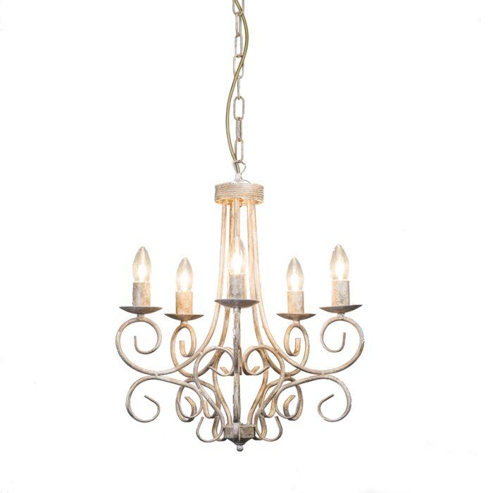 Lámpara-de-araña-ROMANTICA-5-visón