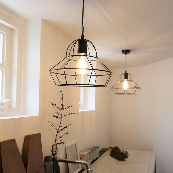 Lámpara-colgante-FRAME-D-negra