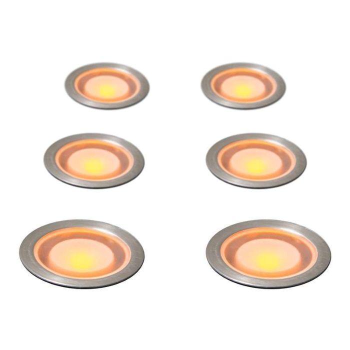 Juego-de-6-focos-GUARD-IP54-amarillo