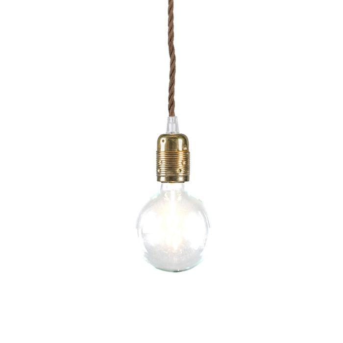 Lámpara-colgante-CAVO-Classic-bronce-con-marrón