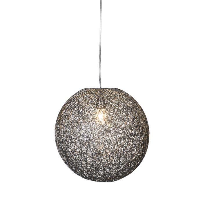 Lámpara-colgante-CORDA-35-negra