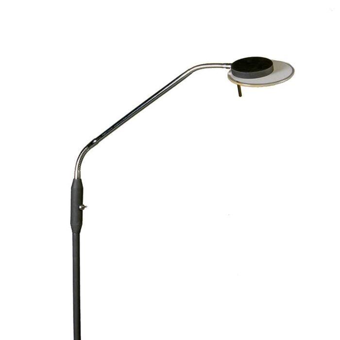 Lámpara-de-pie-para-leer-JAZZ-flexible-negra