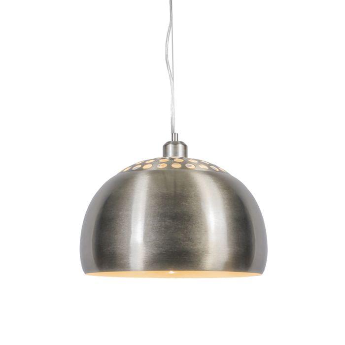Lámpara-colgante-redonda-moderna-acero---GLOBE