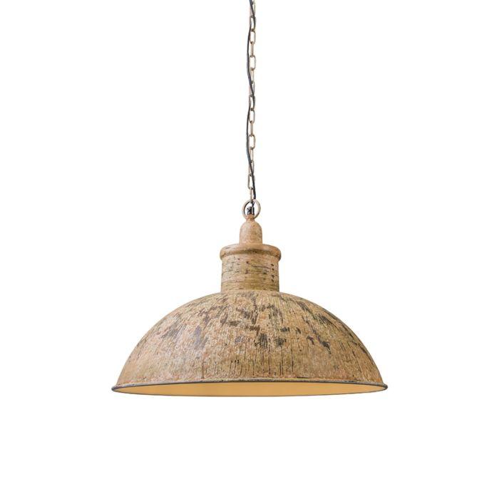 Lámpara-colgante-IRON-II-blanco-oxidado