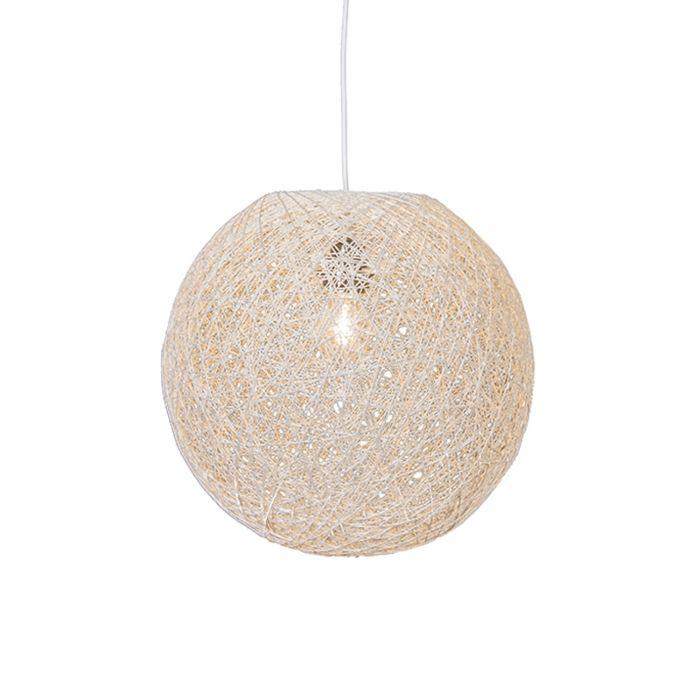 Lámpara-colgante-Country-blanca-45-cm---Corda