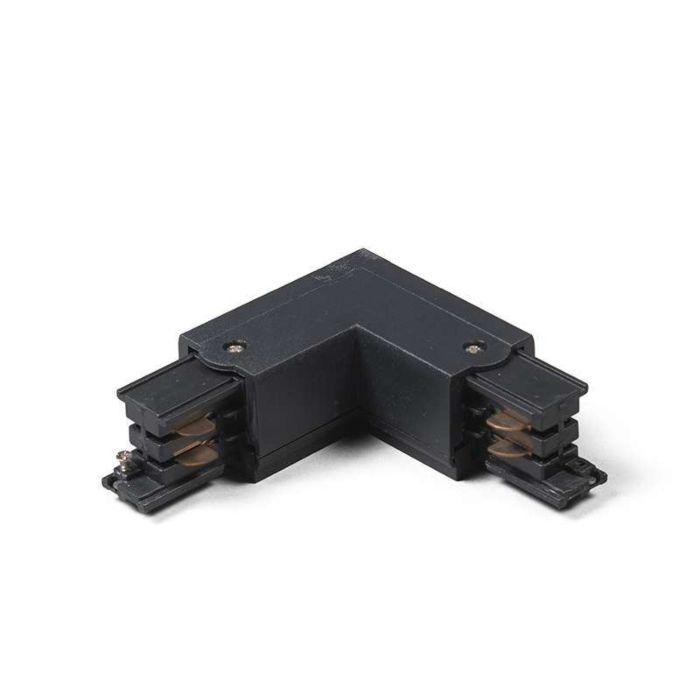Unión-L-Derecha-para-Riel-/-Carril-trifásico-negro