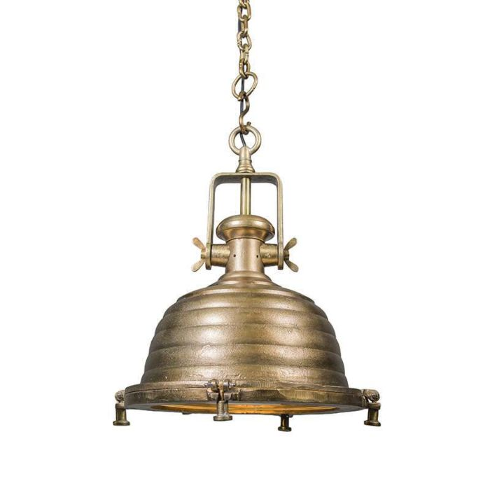 Lámpara-colgante-Fort-Raw-L-bronce-envejecido