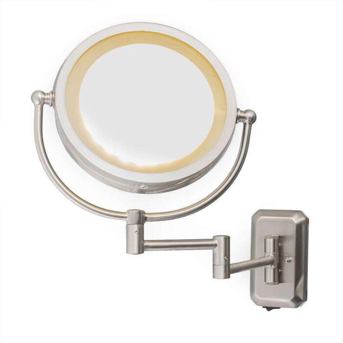 Espejo-de-pared-ME,-afeitado-maquillaje,-de-acero-y-luz-LED