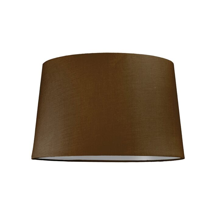 Pantalla-para-lámpara-colgante-40cm-cónica-SU-E27-marrón