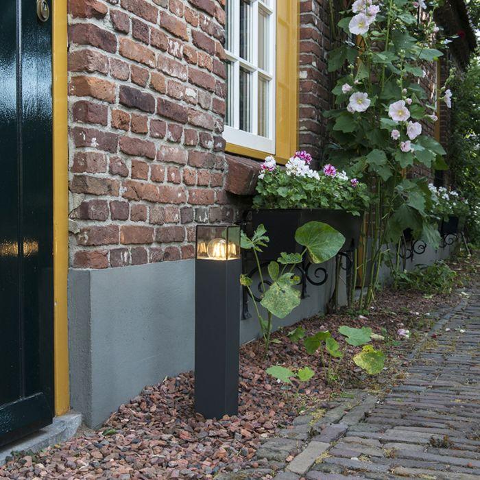 Baliza-moderna-50-cm-antracita-IP44---DENMARK