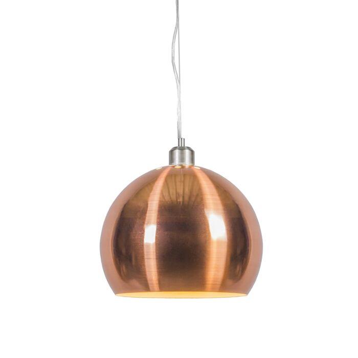 Lámpara-colgante-GLOBE-28cm-cobre-mate