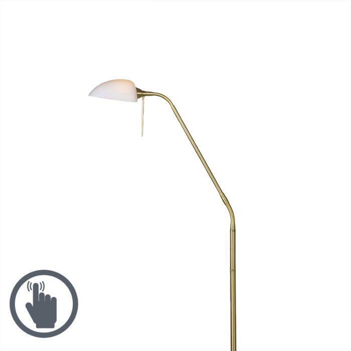 Lámpara-de-pie-VINCE-Glass-dorada-mate