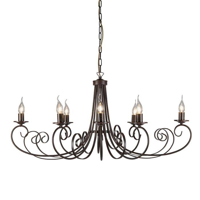 Lámpara-de-araña-ESPOSITO-8-ovalada-color-óxido