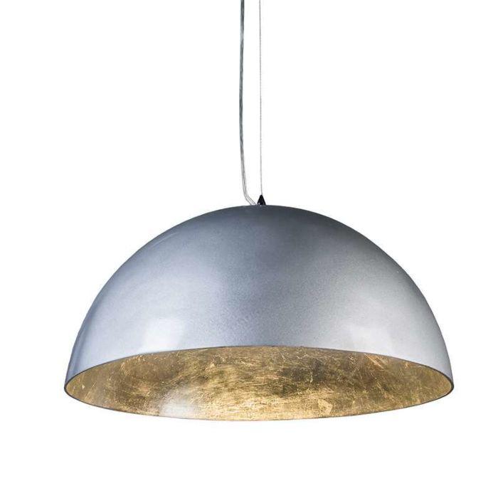 Lámpara-colgante-MAGNA-plata-55cm-brillante