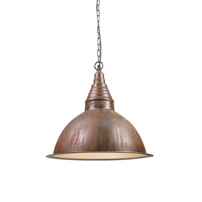 Lámpara-colgante-industrial-óxido---Fábrica