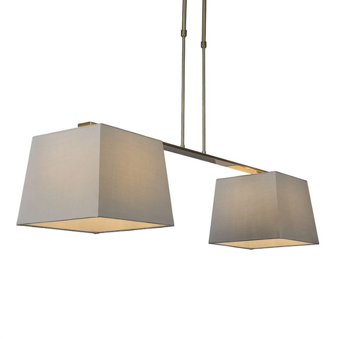 Lámpara-colgante-COMBI-Delux-2-pantallas-piramidales-30cm-gris