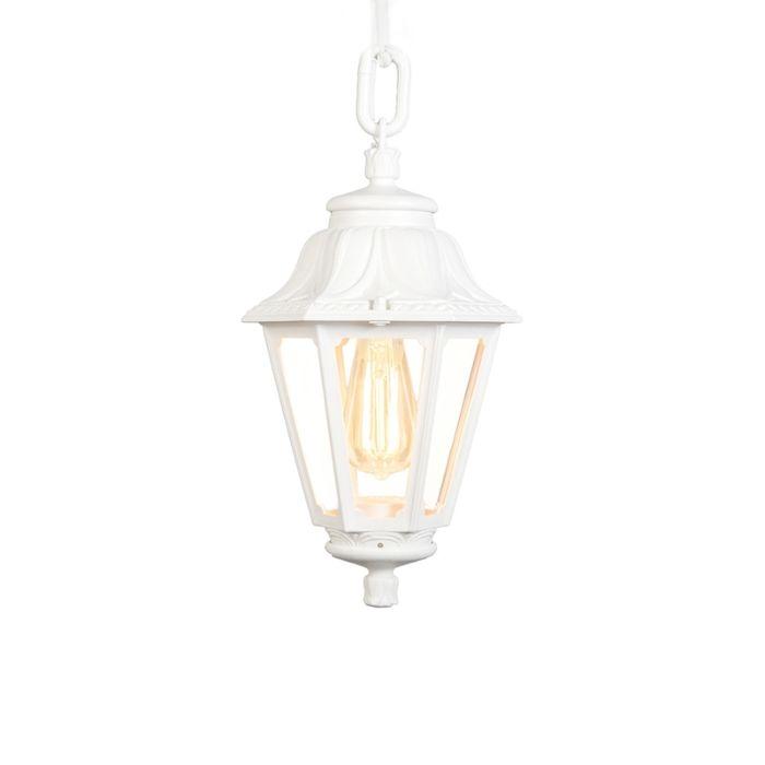 Lámpara-colgante-de-exterior-de-país-blanca-IP44---Anna