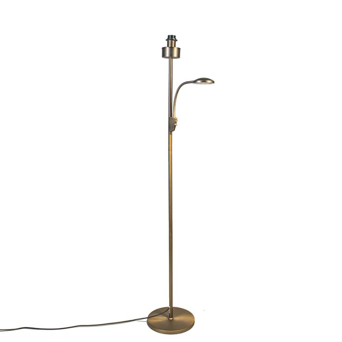 Lámpara-de-pie-TRENTO-COMBI-bronce-sin-pantalla