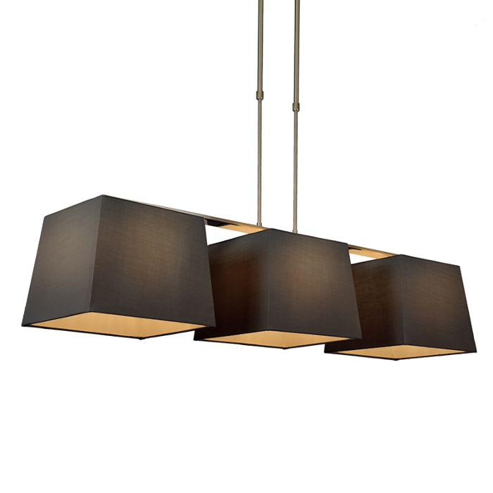 Lámpara-colgante-COMBI-Delux-3-pantallas-piramidales-30cm-negras