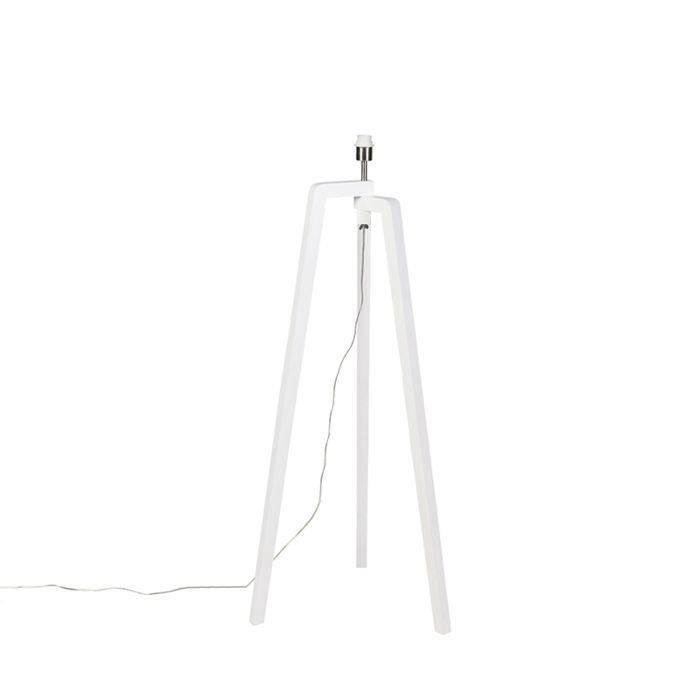 Lámpara-de-pie-blanca-sin-pantalla---Puros