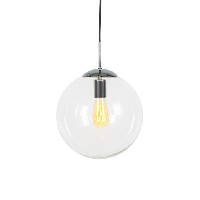 Lámpara-colgante-escandinava-cromo-con-cristal-transparente---Bola-30