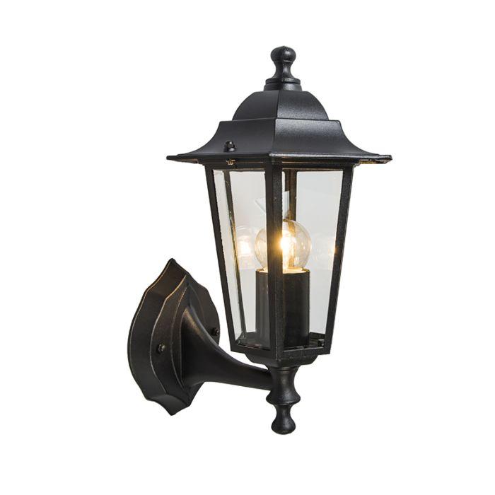 Lámpara-de-exterior-clásica-negra-IP44---New-Haven-up