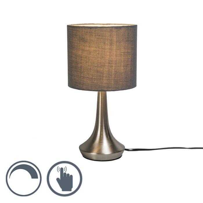 Lámpara-de-mesa-MILO-1-redonda-gris