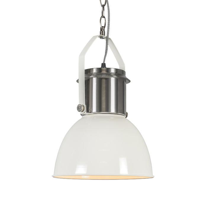 Lámpara-colgante-INDUSTRIAL-27-blanca