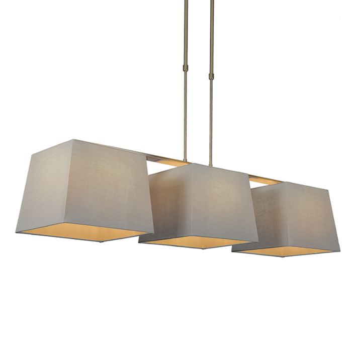Lámpara-colgante-COMBI-Delux-3-pantallas-piramidales-30cm-gris