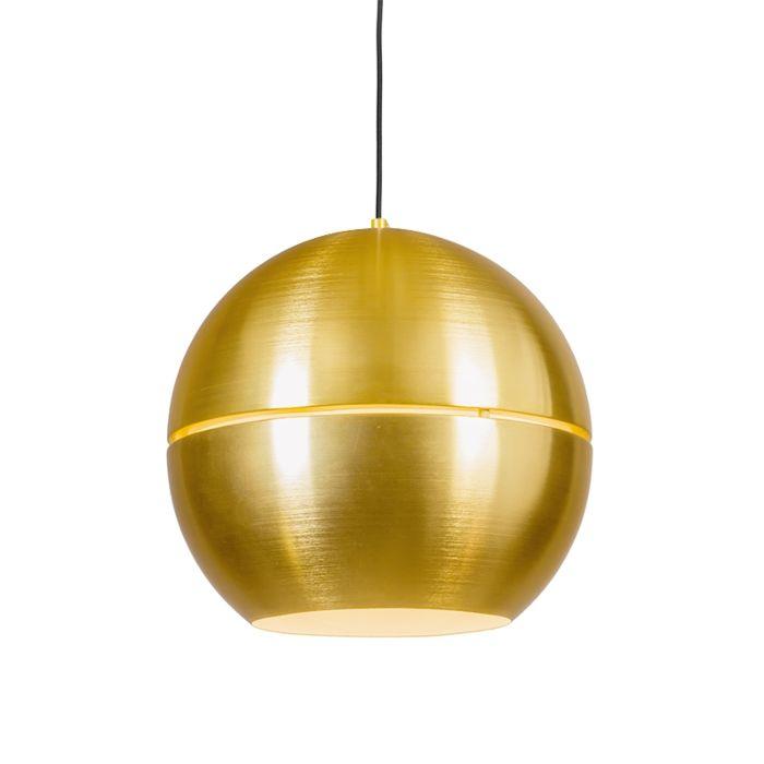 Lámpara-colgante-retro-dorada-40cm---SLICE