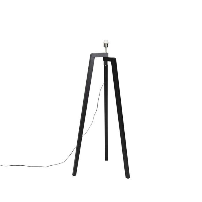 Lámpara-de-pie-negra-sin-pantalla---Puros