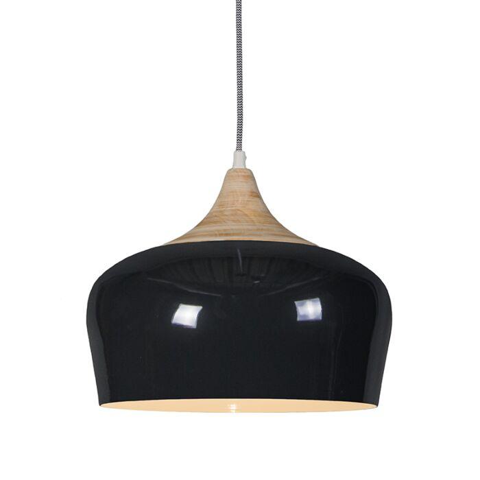 Lámpara-colgante-PINE-negra