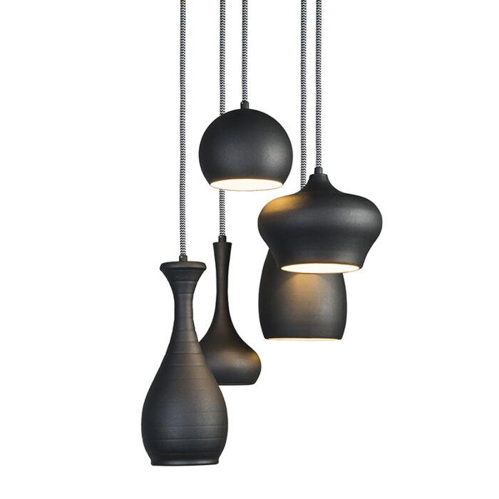 Lámpara-colgante-DROPS-5-negra
