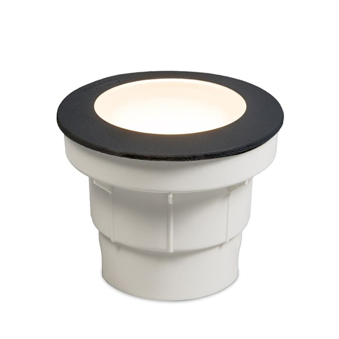 Punto-de-suelo-moderno-al-aire-libre-negro-con-LED-IP67---Ceci