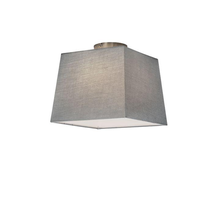 Plafón-COMBI-30cm-piramidal-gris