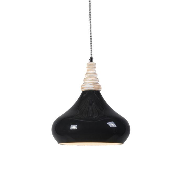 Lámpara-colgante-MAPLE-negra