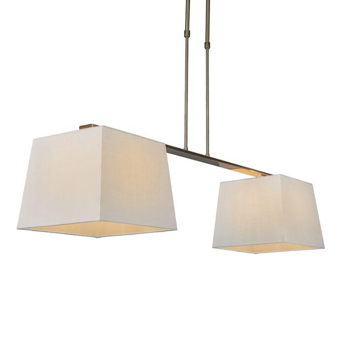 Lámpara-colgante-COMBI-Delux-2-pantallas-piramidales-30cm-blancas