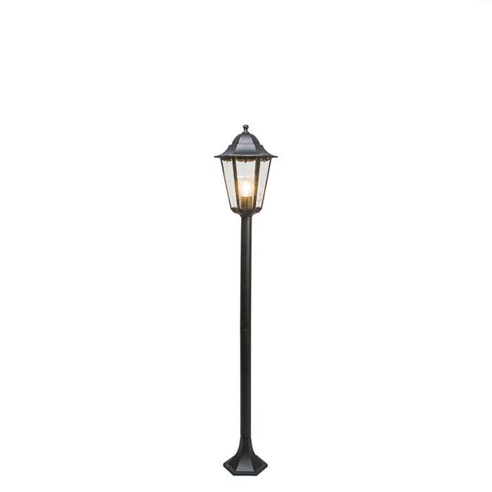 Lámpara-de-pie-clásica-de-exterior-negra-127.5-cm-IP44---New-Orleans