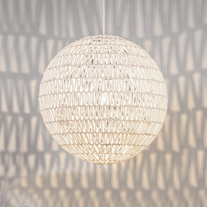 Lámpara-colgante-LINA-Ball-60-blanca