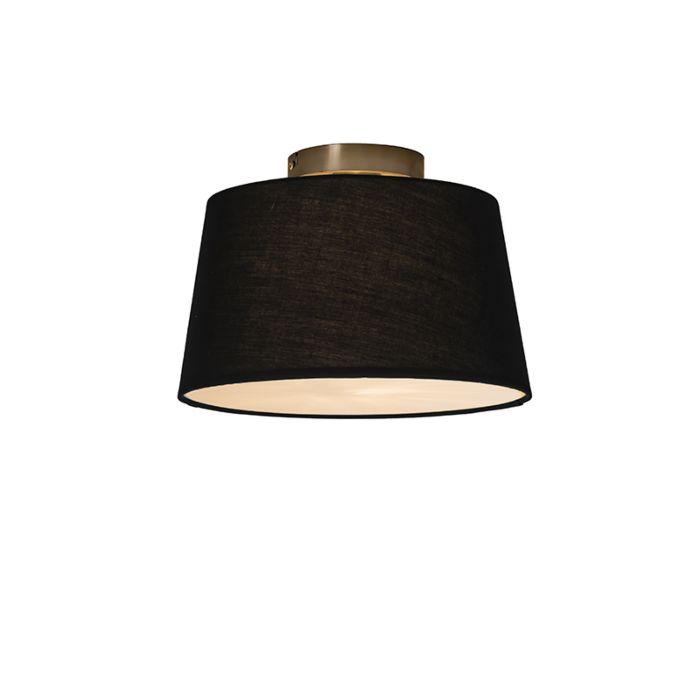 Plafón-COMBI-30cm-negro-con-difusor