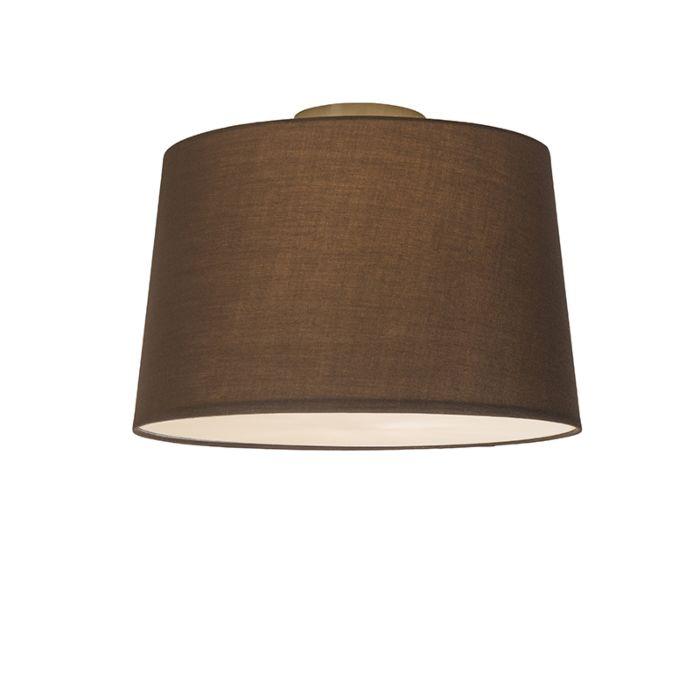 Plafón-COMBI-40cm-marrón-con-difusor