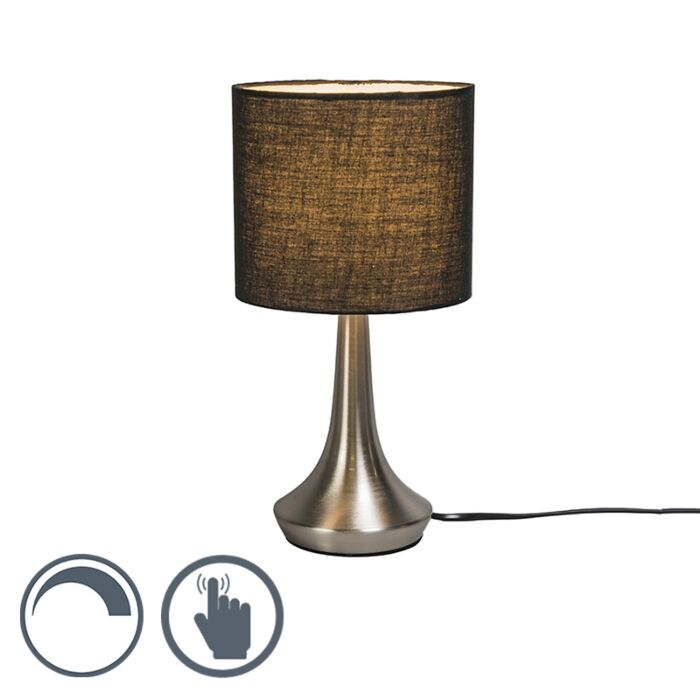 Lámpara-de-mesa-MILO-1-redonda-negra