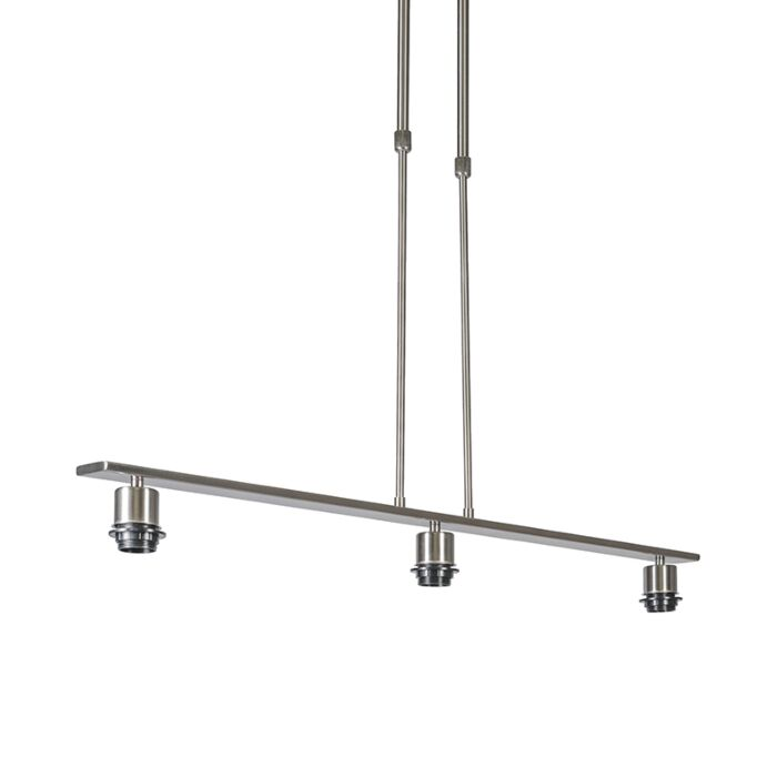 Lámpara-colgante-acero-sin-pantalla---COMBI-3-Deluxe
