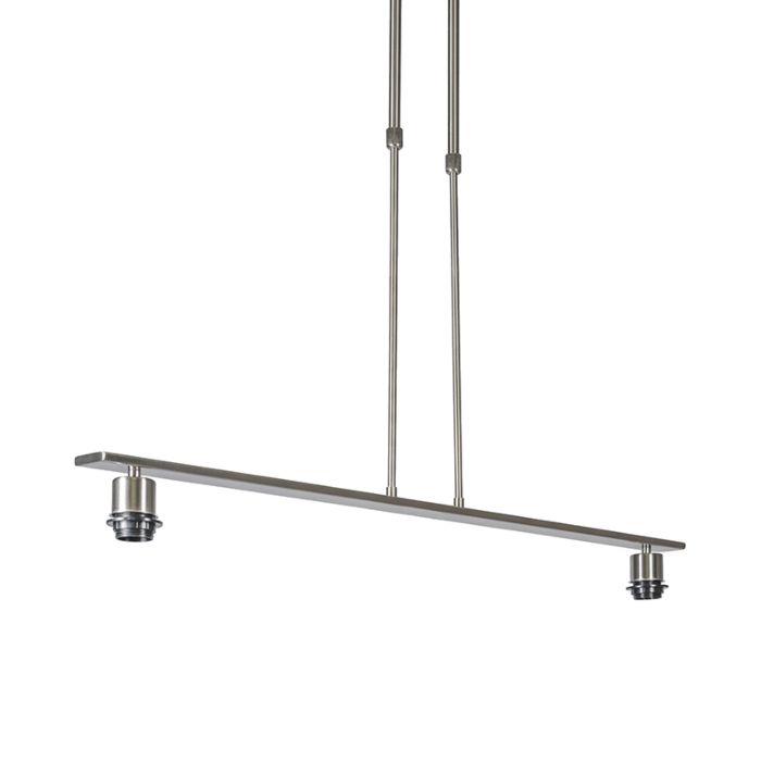 Lámpara-colgante-COMBI-2-Deluxe-acero-sin-pantalla
