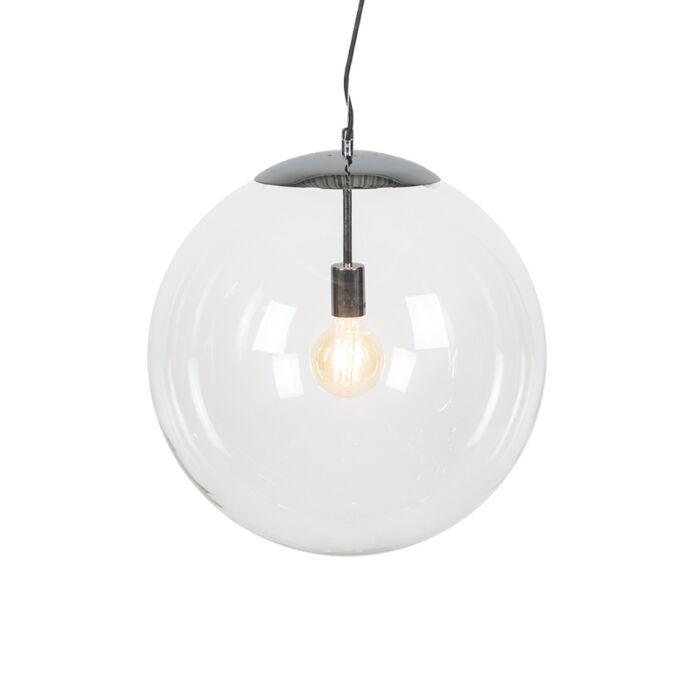 Lámpara-colgante-escandinava-cromo-con-cristal-transparente---Ball-50