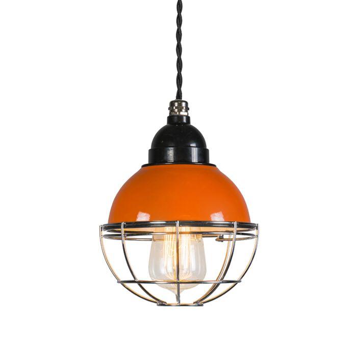 Lámpara-colgante-HARBOR-naranja